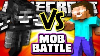 WITHER VS HEROBRINE - Minecraft Batalha de Mobs - Polkz Mod