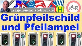 Fahrschule - Grüner Pfeil - Grünpfeilschild - Kurz erklärt wie man fährt!  praktische-Prüfung
