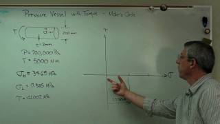 Pressure Vessel with Torque - Part 2 - Mohr Circle.MP4
