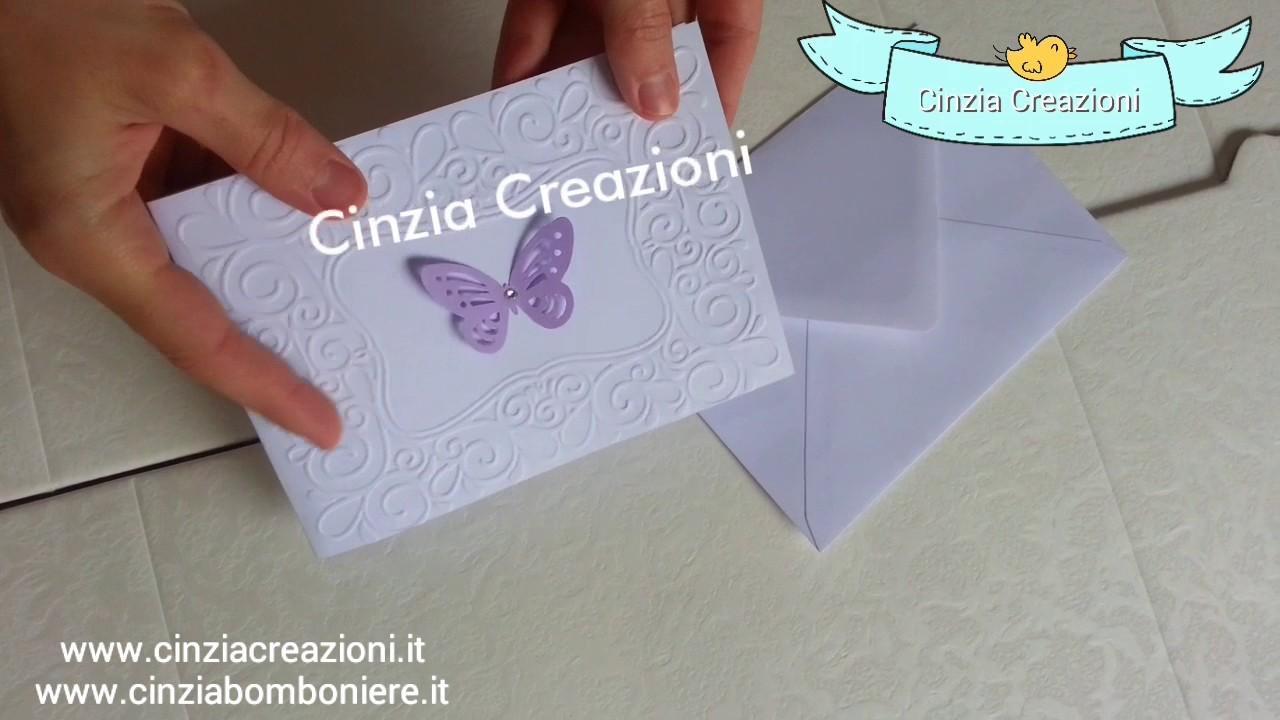 Molto Partecipazione farfalla economica 1€ matrimonio battesimo cresima  UV38