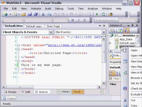 how to publish a website in visual studio 2008