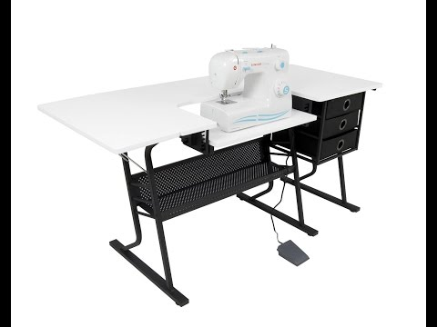 Studio Designs 13362 Eclipse Hobby Sewing Center In black   White Black White