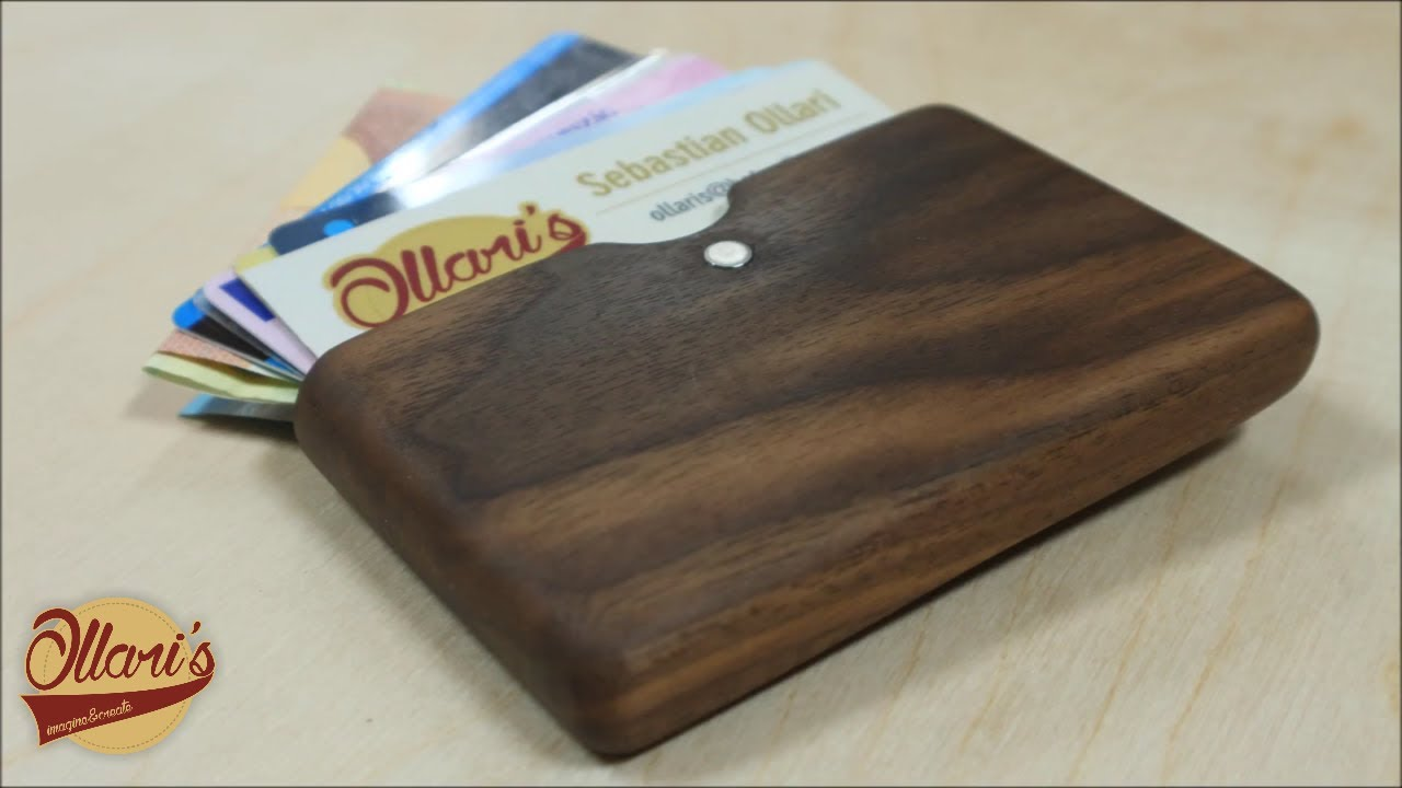 Making a modern walnut wood wallet business card holder youtube making a modern walnut wood wallet business card holder colourmoves