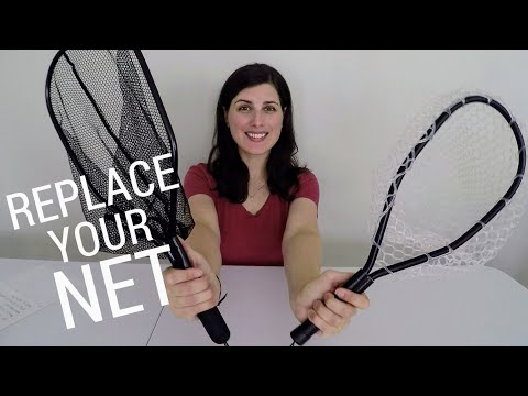 How To Replace Your Fishing Net Bag | Upgrade To A Rubber Net (Frugal Fishing)
