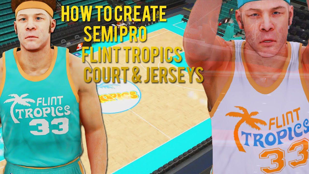 Flint Tropics #55 Vakidis Blue Semi-Pro Movie Stitched Basketball ...
