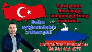 TURKIYADAN ROSSIYAGA KETSA BO'LADIMI? +90 531 942 1777