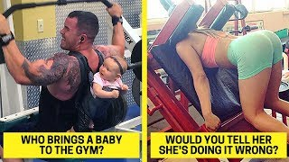 Times People Couldn't Believe Their Eyes At The Gym (Gym Fails)