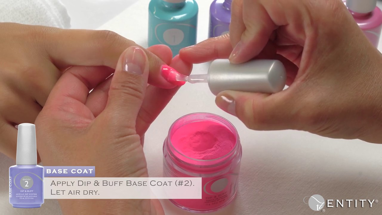 Entity Nail Dip & Buff Color Step by Step - YouTube