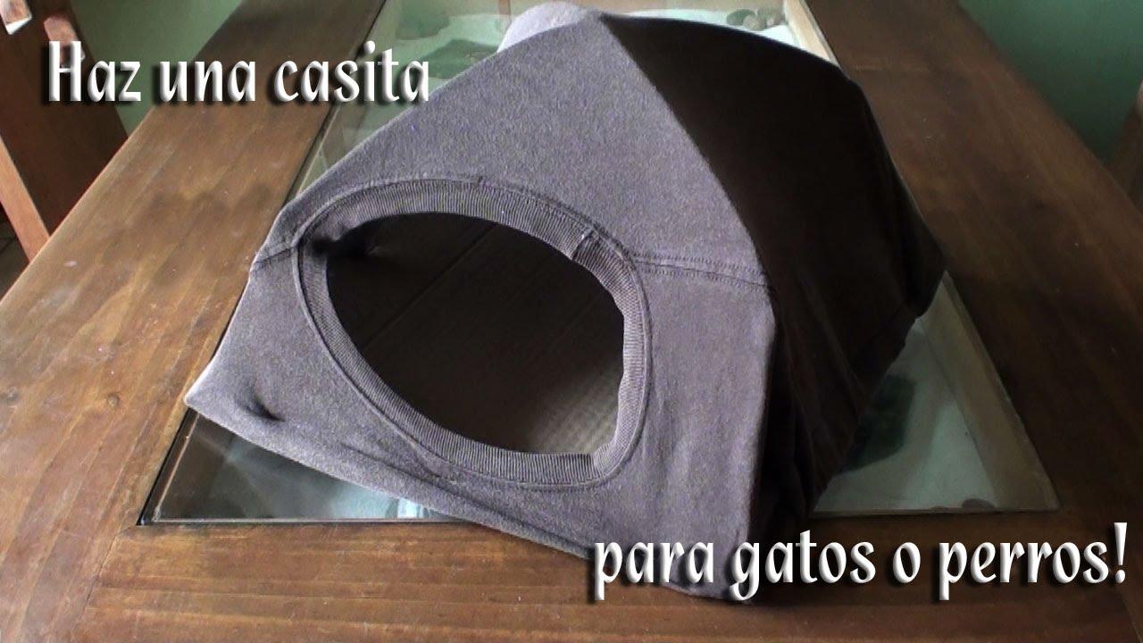 Como hacer una casita o escondite para tu gato o perro youtube - Como hacer una casita para perros ...