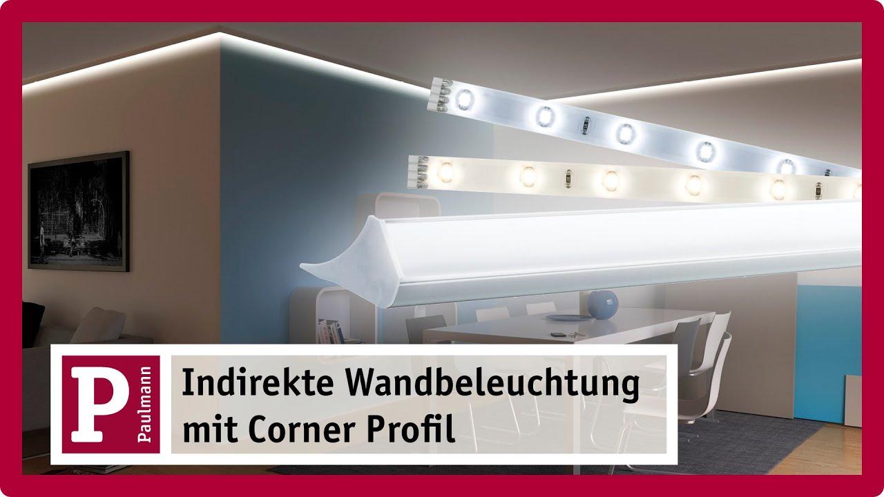 Indirekte Beleuchtung Stuckleisten Und Licht Voute Mit Led Strips Und Corner Profil Youtube