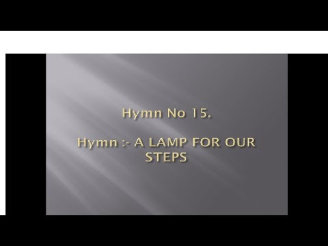 Hymn No 15. A Lamp For Our Steps Keyboard Notes And Chords | Joyful Celebration Hymns |