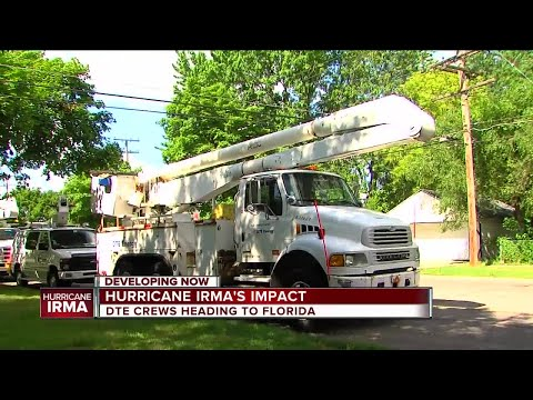 DTE Energy crews heading to Florida in preparation of Hurricane Irma