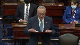Chuck Schumer Gives First Speech As Majority Leader