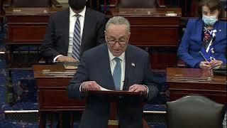 Chuck Schumer Gives First Speech As Majority Leader