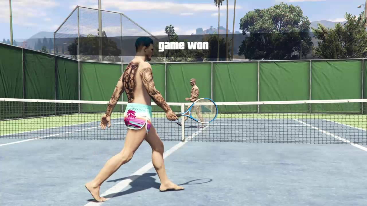 Naked Tennis  Grand Theft Auto V Online - Youtube-9412