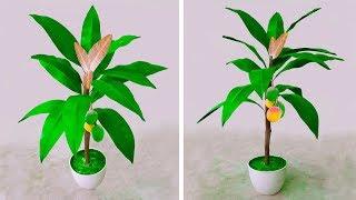 আর্ট পেপার দিয়ে আম গাছ তৈরি করে ঘর সাজান // DIY: Artificial mango tree for home decoration