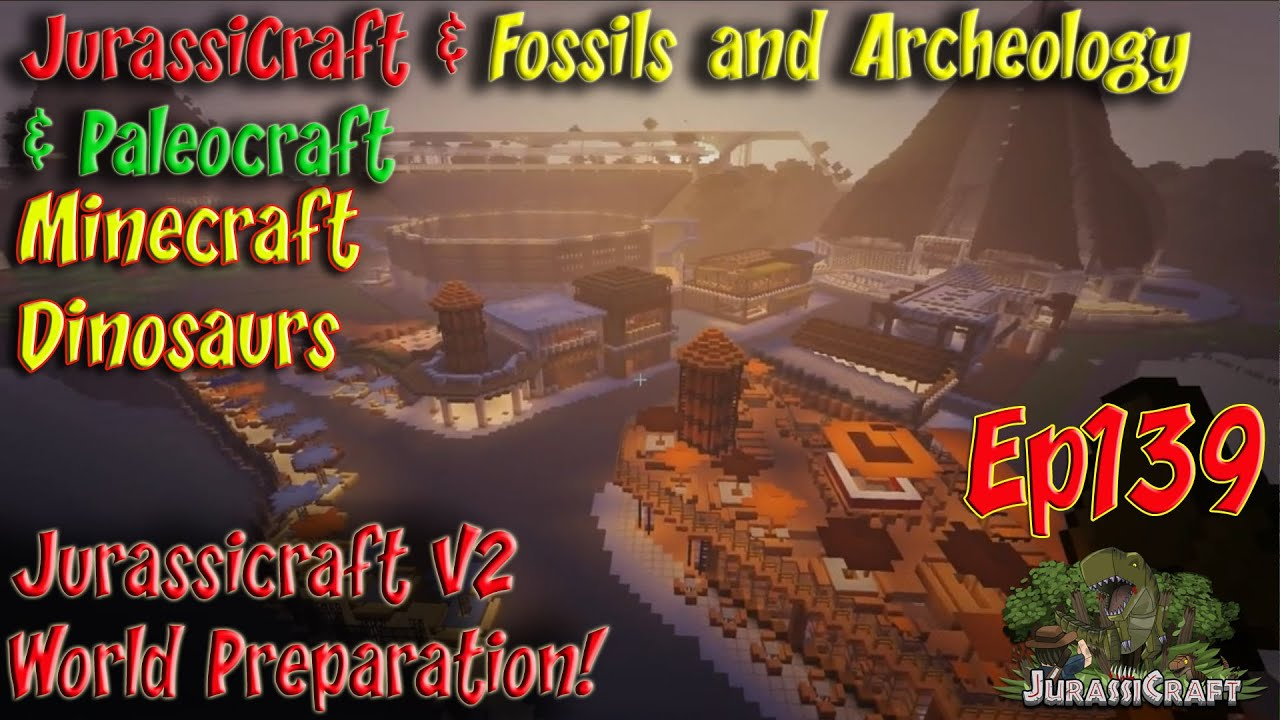 Jurassicraft Fossils And Archeology Jurassic World Ep75