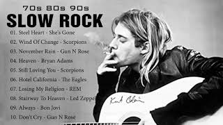 Download lagu Scorpions, Bon Jovi, U2, Aerosmith, Led Zeppelin - Best Slow Rock Ballads Of 80s, 90s