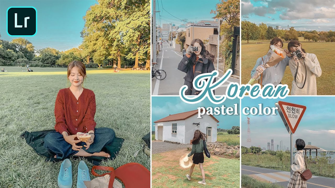How to edit Korean pastel tone | lightroom mobile presets free dng xmp lr editing tutorial hàn quốc