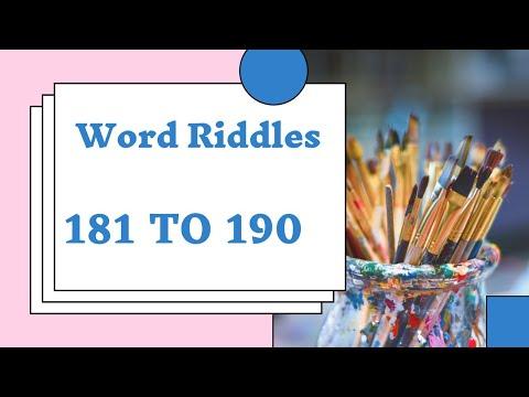 Word Riddles Level 181 To 190 Walkthrough Youtube