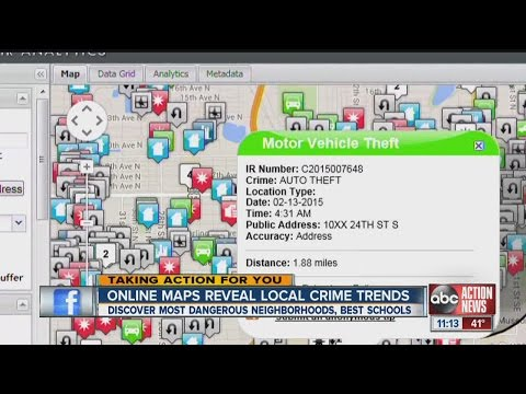 Online maps reveal Tampa Bay's crime trends