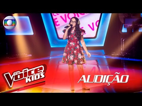 Tainá Delfino canta 'Minha Felicidade' na Audição –  The Voice Kids Brasil   2ª Temporada
