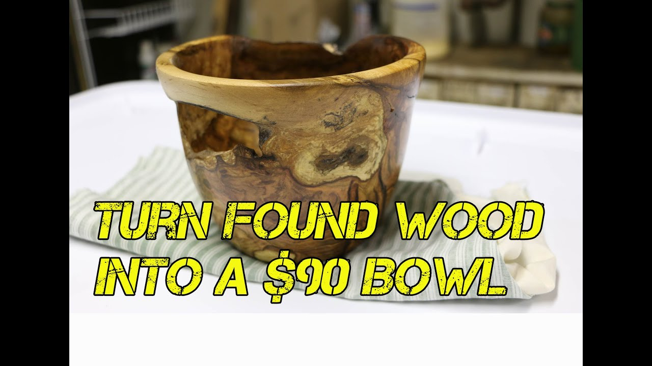 How To Turn Found Wood Into A 90 Wooden Bowl