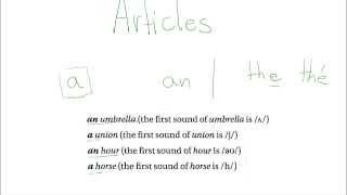 Большой урок английского языка - Articles/Артикли