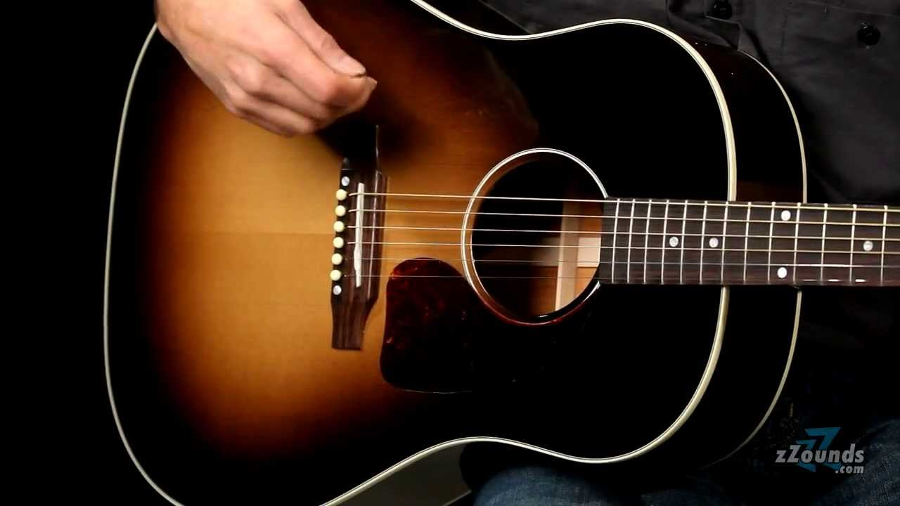 6b74d505406 zZounds.com: Gibson J-45 Standard Acoustic-Electric Guitar - YouTube