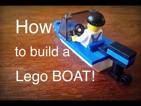 How to build a Lego BOAT! - YouTube