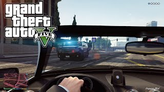 GTA V - First Person Gameplay (Police Chase)