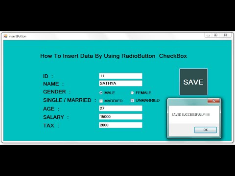 INSERT data by using RADIOBUTTON and CHECKBOX in dot net