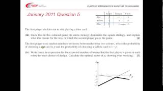 FMSP Revision Video: OCR D2 - Game Theory