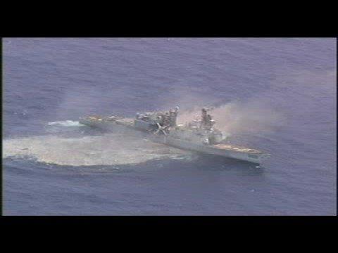HMAS Waller fires MK 48 Mod 7 (CBASS) torpedo