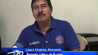 Lázaro Cárdenas, Mich.- Periodo crítico de lluvias. Hasta el 30 de Septiembre.