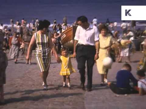 1960s Redcar Beach and Seafront, Rare Kodachrome Footage