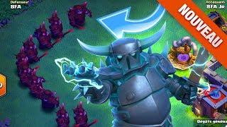 Clash of Clans ATTAQUES AU NOUVEAU SUPER PEKKA !!! MISE A JOUR MDO 8