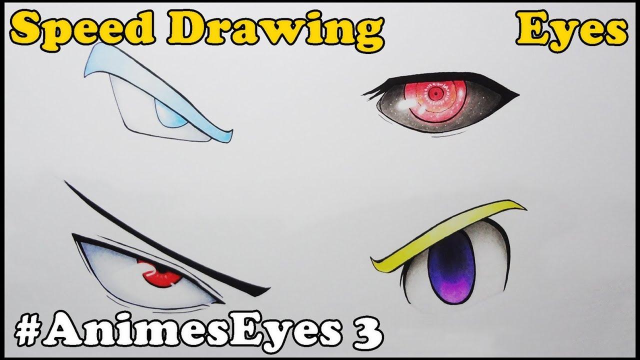 Drawing Anime Eyes Desenhando Olhos De Animes 3 Youtube