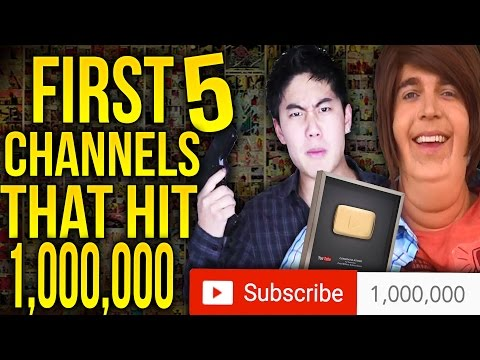 The First 5 YouTubers That Hit 1,000,000 Subscribers!