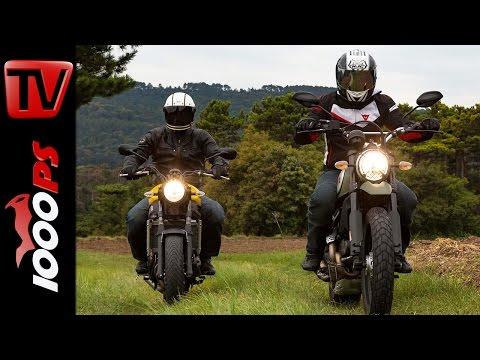 Ducati Scrambler Urban Enduro vs. Yamaha XSR 700 Test 2016