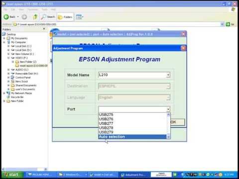 Epson L120 RESET Adjustment Program Resetter