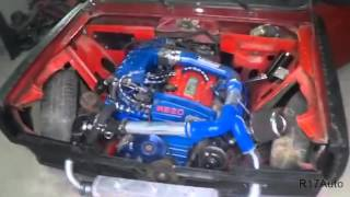 tuning Lada 2105 motor skyline turbo