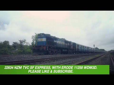 22634 NZM TVC SF EXPRESS, BLASTING AT SAWANTWADI, WITH ERODE 11258 WDM3D