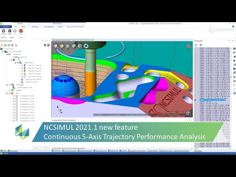 Continuous 5-Axis Trajectory Performance Analysis | NCSIMUL 2021.1