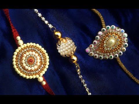 Handmade Rakhi Video 1 3 Designer Rakhi Making How To Make