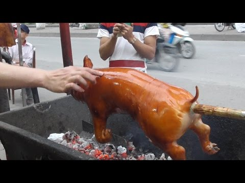 Thumbnail: Vietnam street food - Crispy Roast BBQ Whole Pig Hog - Street food in Vietnam 2016