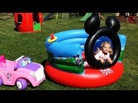 МИККИ МАУС Крутой Батут Mickey Mouse Toys Minnie Mouse Клуб Микки Мауса Сюрпризы Минни Маус #Toys