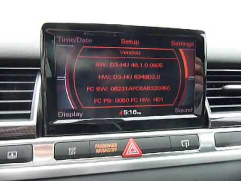 Checking Audi MMI sofware version for Bluetooth compatibility
