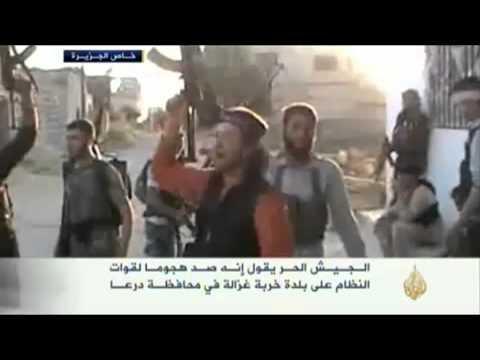 الجيش الحر يصد هجوم للنظام على خربة غزالة