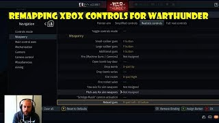 Mapping Controls for Arcade Mode - War Thunder XBOX ONE